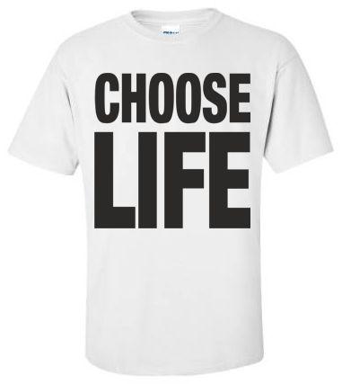 CHOOSE LIFE WHAM Replica George Michael T Shirt Retro 80s ...